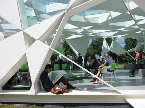 Pritzker Prize 2013 winner Toyo Ito: Serpentine Gallery Pavilion, 2002, London, UK.