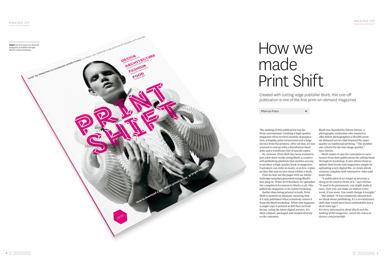 Dezeen launches Print Shift magazine with Blurb