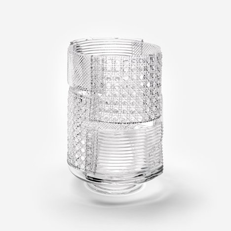 Patchwork Glass Vases by Nendo