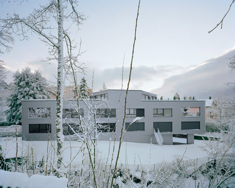 Apartment Building in Chailly by Personeni Raffaele Scharer Architects
