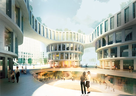 Central Business District at Shanghai Hongqiao Airport by MVRDV with Aedas