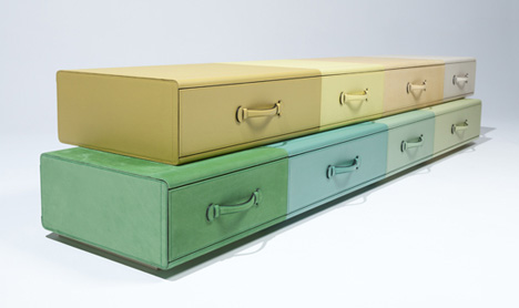 Chest of Suitcases by Maarten de Ceulaer
