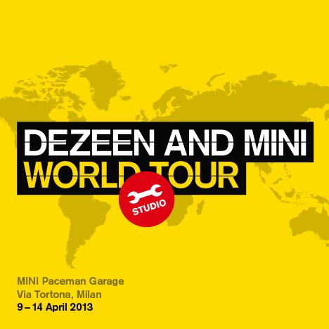 Dezeen and MINI World Tour Studio in Milan