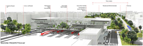 Fuksas to redesign central railway area of Bari, Italy