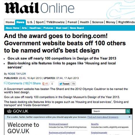 Mail Online attackes Gov.uk