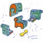 Unexpected Welcome sketches by Moooi