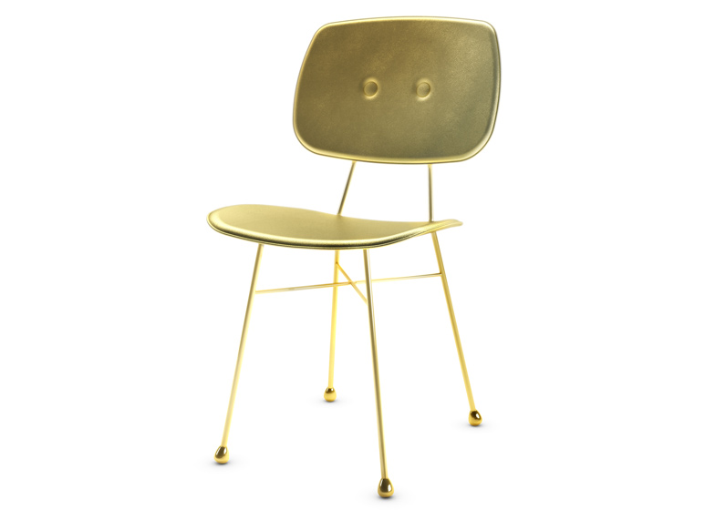 The Golden Chair by Nika Zupanc is a simple seat coloured in gold.