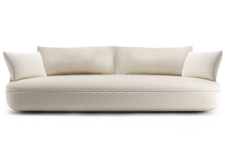 Bart Sofa by Moooi Works and Bart Schilder has a quilted base and rounded corners.
