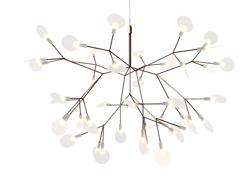Heracleum Small light by Bertjan Pot was inspired by the little white flowers of the plant known more commonly as Hogweed.