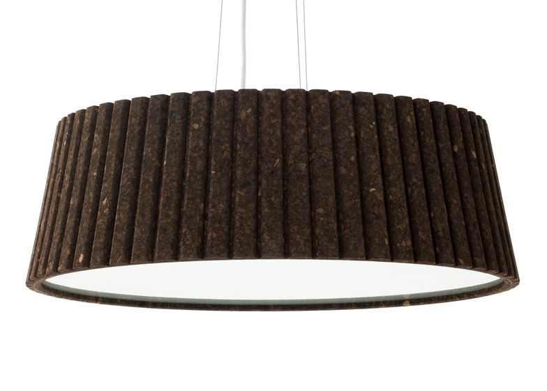 Pianissimo dark cork lamp by Lars Beller Fjetland