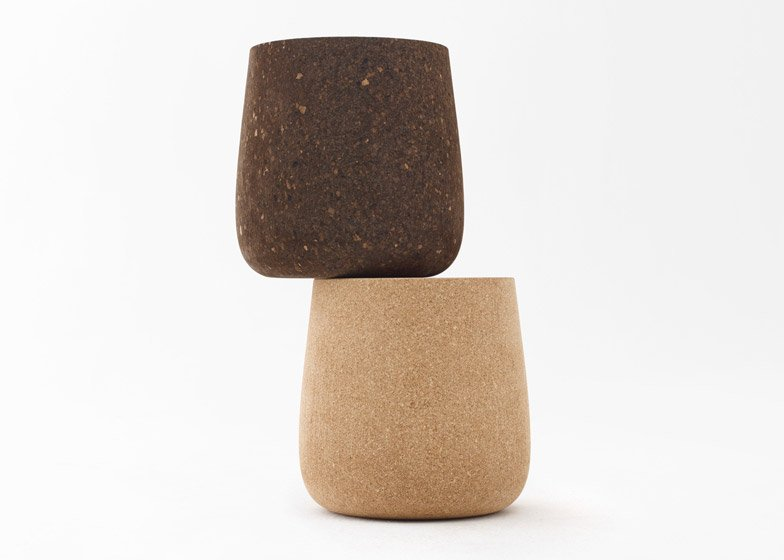 N=N/07 Portable Pot - a lightweight cork stool that can be picked up by a handle in the centre of the seat
