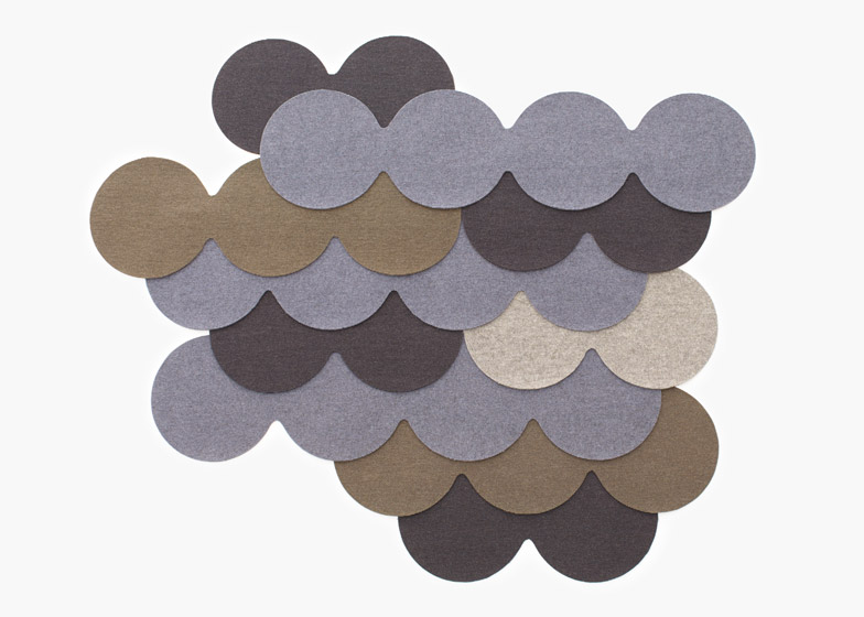 N=N/06 Fish Skin on the Roof - combinations of two, three or four overlapping carpet circles can be arranged in different patterns