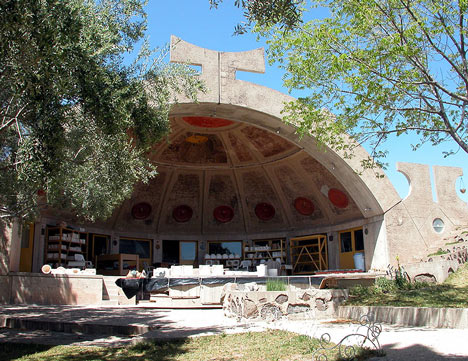 Paolo Soleri's Arcosanti, photo from Cosanti Foundation