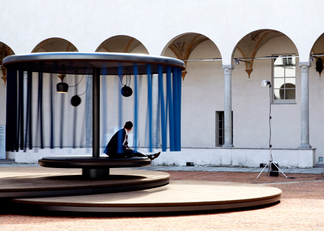 Quiet Motion installation by Ronan and Erwan Bouroullec