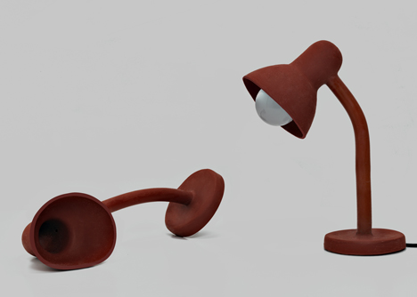 Rubber Lamp by Thomas Schnur at SaloneSatellite