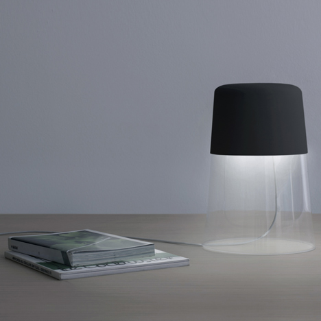 Semplice lamp by industrial facility for oluce