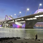 Sheikh Zayed Bridge by Zaha Hadid photographed by Hufton + Crow