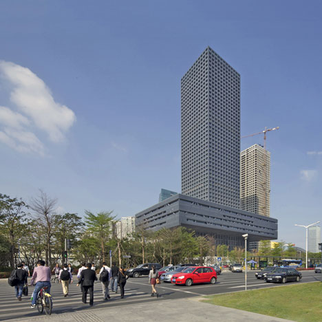 Shenzhen Stock Exchange by OMA nears completion