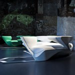 Zephyr Sofa by Zaha Hadid for Cassina Contract