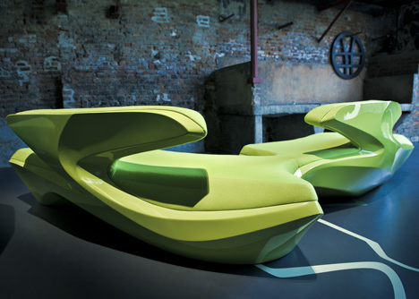 Zephyr Sofa by Zaha Hadid Architects for Cassina Contract