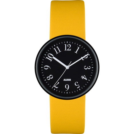 Record by Achille Castiglioni for Alessi in new colours at Dezeen Watch Store