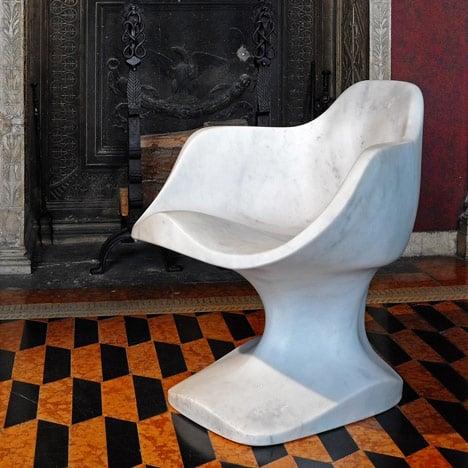 Bust marble chair by Tomáš Gabzdil Libertíny