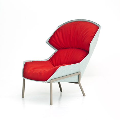 Dezeen_Clarissa Hood armchair and chair by Patricia Urquiola for Moroso_1sq