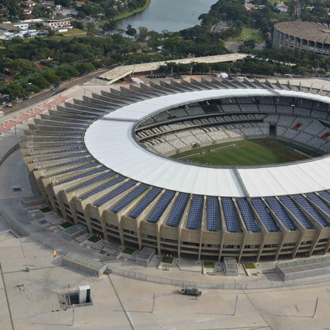 Solar panels fitted to roof of Mineirão stadium