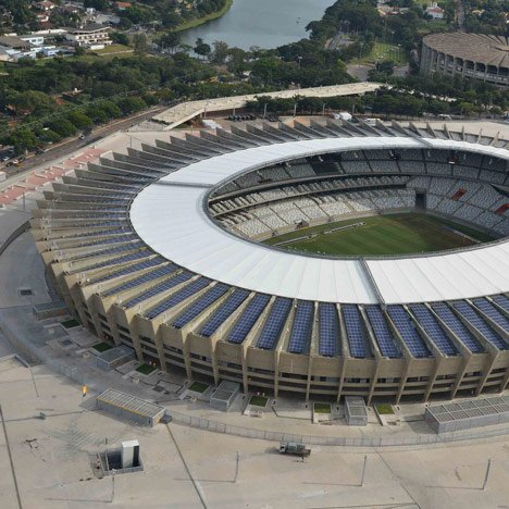 Brazil opens first solar-powered stadium, photo by Luan S.R.