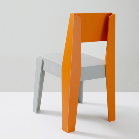 Furniture made from recycled plastic Materialdistrict Dezeen Butter Chair Made Of Recycled Plastic By Designbythem