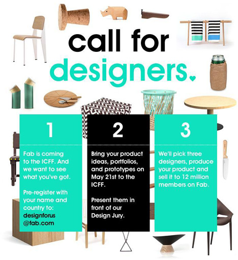 Fab calls for entries to its Disrupting Design competition in New York