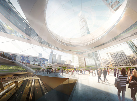 Four architects propose Penn Station