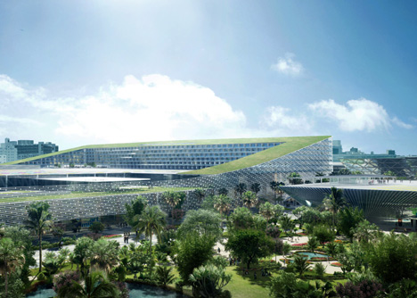 Miami Beach Convention Center proposal by BIG