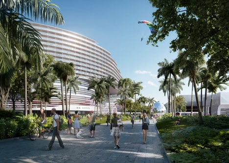 Miami Beach Convention Center proposal by OMA