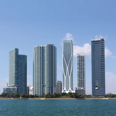 Zaha Hadid's Miami skyscraper revealed