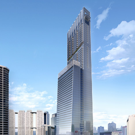 SOM proposal for Singapore's tallest tower