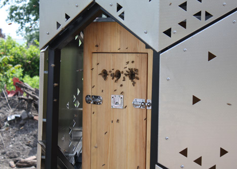 Skyscraper for bees by University at Buffalo students