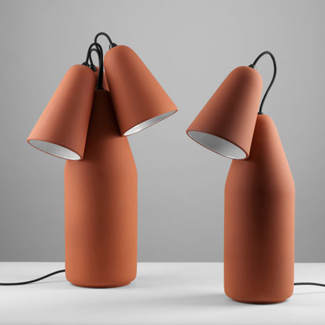 Terracotta lamps by Tomas Kral