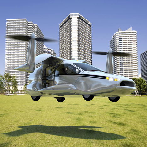 Vertical takeoff flying car concept unveiled
