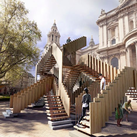 dRMM to install Escher-style staircase outside St Paul's Cathedral for London Design Festival