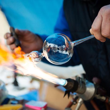 Glassblowing, photo by Shutterstock