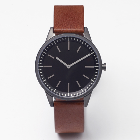 251 Series by Uniform Wares with new tan strap at Dezeen Watch Store
