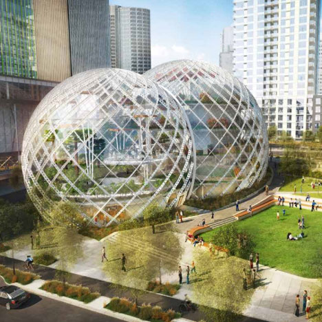 Amazon headquarters image by NBBJ