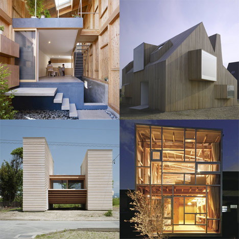 Dezeen archive: wooden buildings