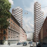 OMA wins competition for twin skyscrapers in Stockholm