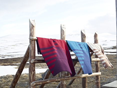 Blankets by Snøhetta for Røros Tweed