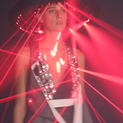 Laser dresses by Hussein Chalayan for Swarovski