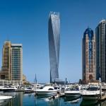 SOM completes twisted skyscraper in Dubai