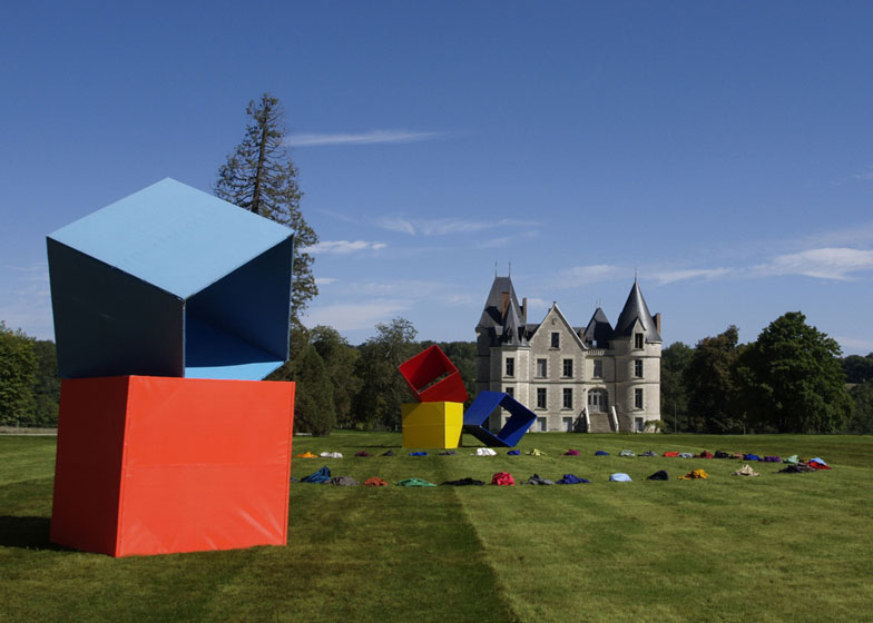 Artwork on display at Domaine de Boisbuchet