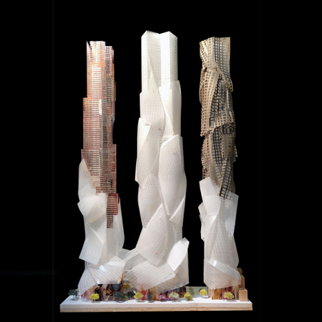 Frank Gehry reveals latest design for trio of towers in Toronto
